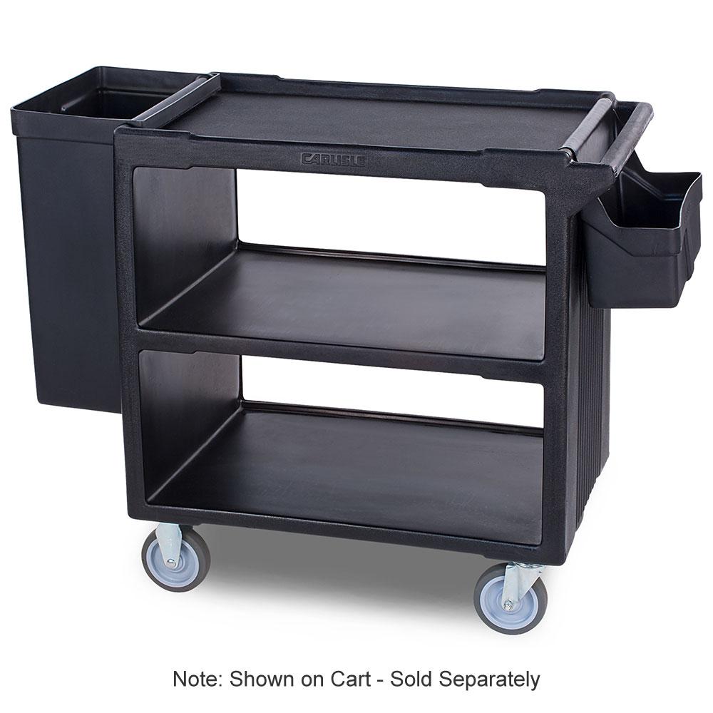 Carlisle SBC11SH03 Silverware Bin for SBC230 Service Cart, Polyethylene, Black