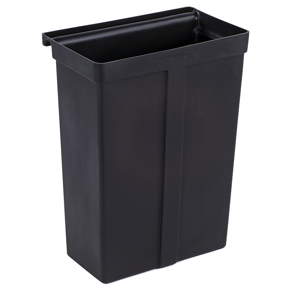 Carlisle SBC11TC03 Bus Cart Trash Bin for SBC230, Polyethylene, Black