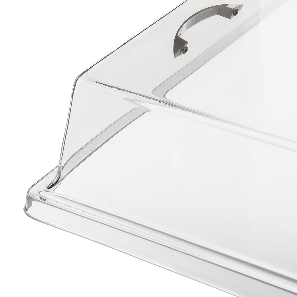 """Carlisle SC2607 Hinged Clear Acrylic Pastry Tray Cover, 26"""" x 18"""" x 4"""""""