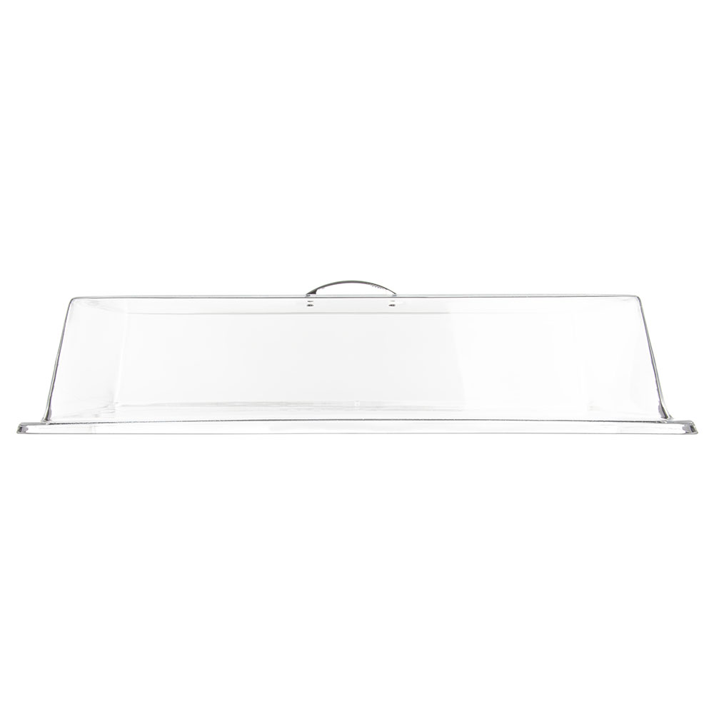 "Carlisle SC2707 Pastry Tray Cover - 19-5/16x11-3/8x4-1/4"" Acrylic, Chrome/Clear"