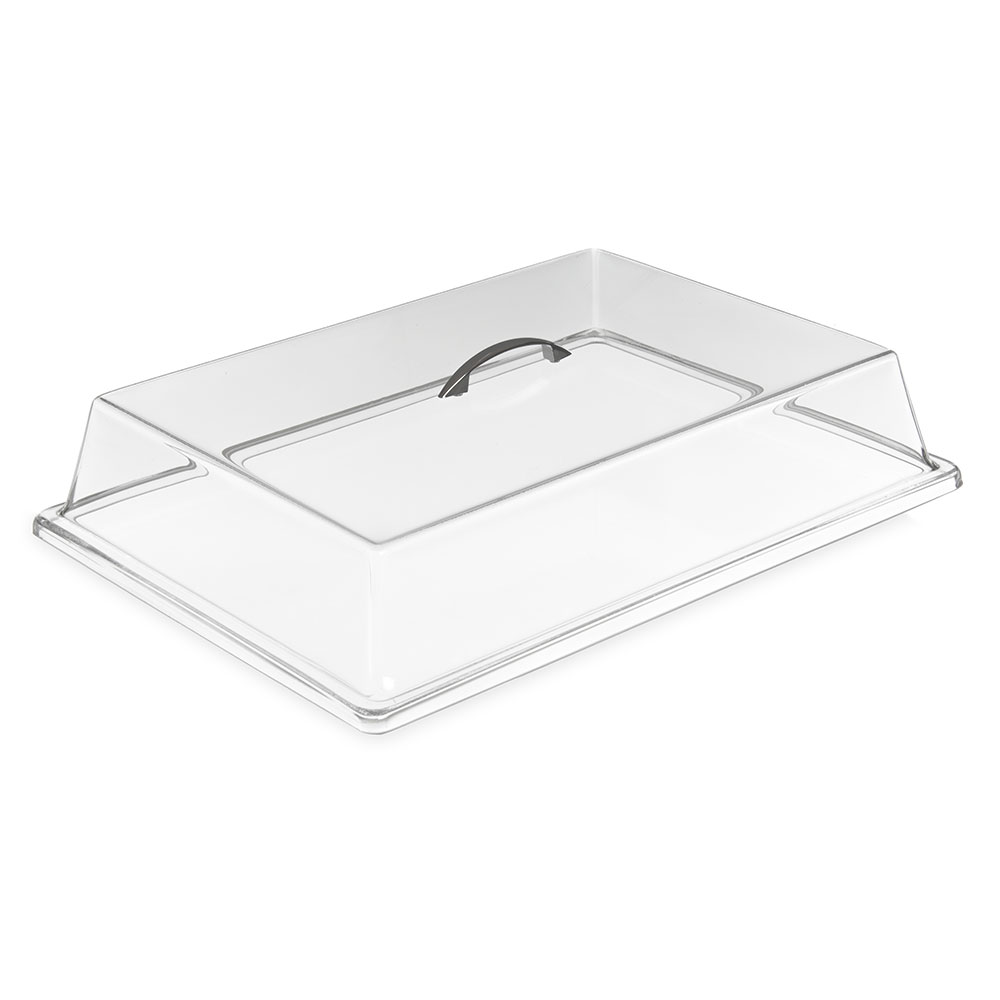 "Carlisle SC4007 Pastry Tray Cover - 16.6875"" x 11.9375"" x 3.25"", Acrylic, Chrome/Clear"