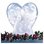 "Carlisle SHR102 Ice Sculpture Mold, 23.25"" x 14.13"" x 27.5"", Heart"