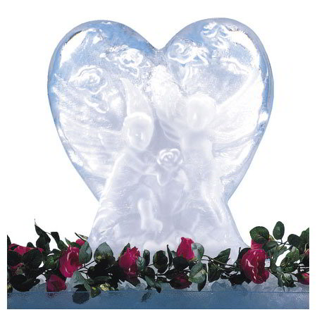 "Carlisle SHR102 Ice Sculpture Mold, 23.25""D x 14.13""W x 27.5""H, Heart"