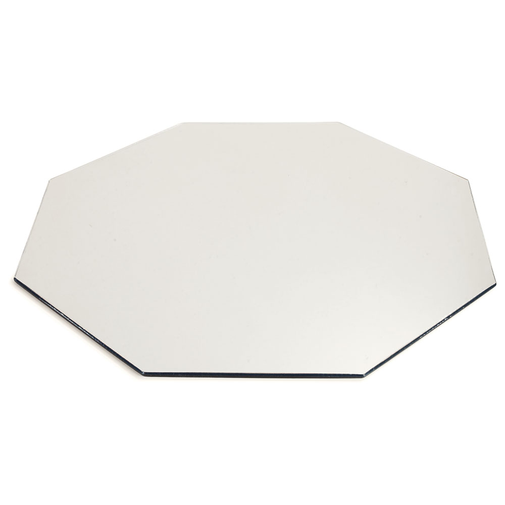 "Carlisle SMOC2423 24"" Octagonal Display Tray - Mirrored Acrylic"
