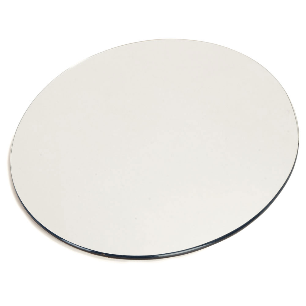 "Carlisle SMR1223 12"" Round Display Tray - Mirrored Acrylic"