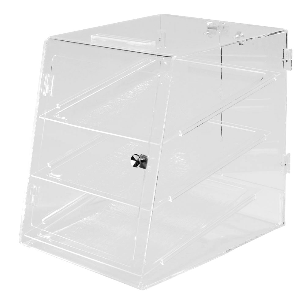 Carlisle SPD30307 Pastry Display Case, Includes 3 Trays, Clear Acrylic