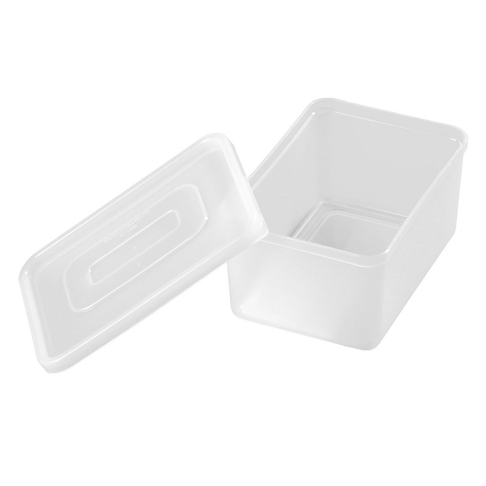 Carlisle SS10702 1.25-qt Condiment Container w/ Acrylic Lid, Polypropylene, White