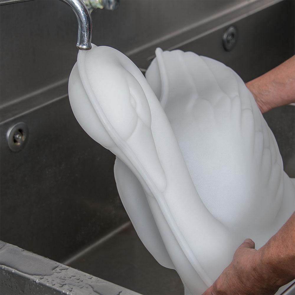 "Carlisle SSW102 Ice Sculpture Mold, 19"" x 12"" x 21.5"", Swan"