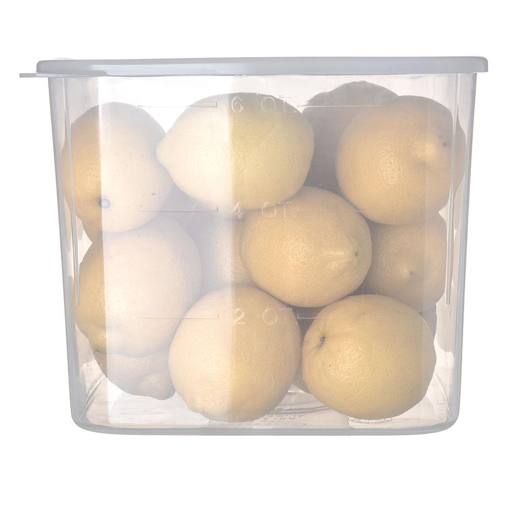 Carlisle ST155630 6-qt Square Food Storage Container - Translucent