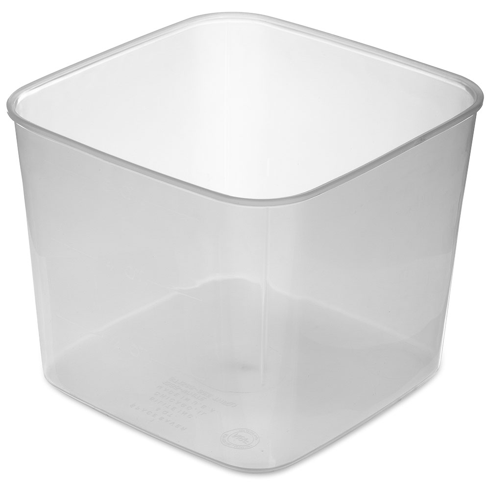 Carlisle ST155630 6-qt Square Food Storage Container - Translucent