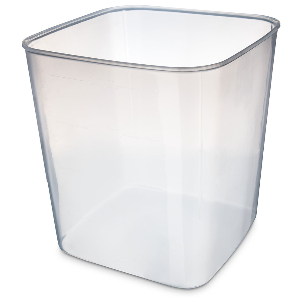 Carlisle ST156830 8-qt Square Food Storage Container - Translucent