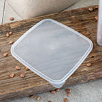 Carlisle ST157330 StorPlus Square Lid for 2 & 4-qt Containers, Translucent