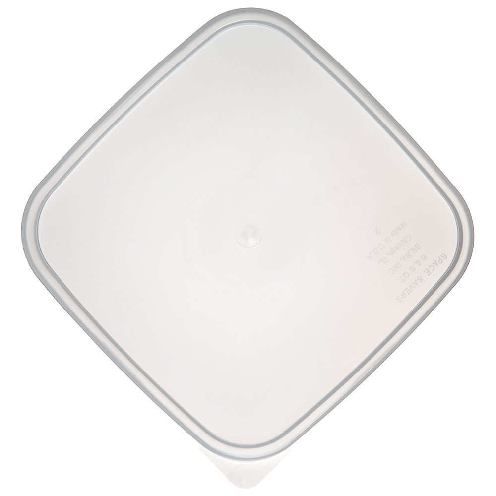 Carlisle ST158730 StorPlus Lid for 6 & 8-qt Containers, Square, Translucent