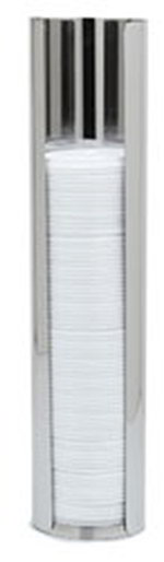 Carlisle 38835L Hanging Lid Dispenser,18 in L tube, For Lids up to 3-7/8 in, SS