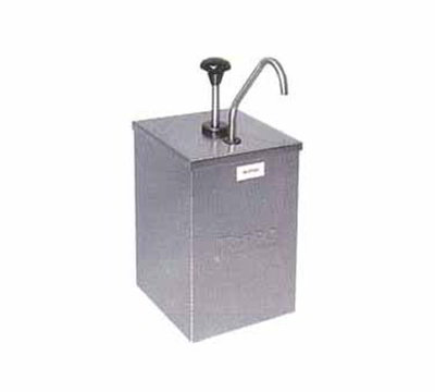 "Carlisle 386010 Condiment Pump Dispenser - 7-1/4x7-1/4x15-1/2""Single Unit, Stainless"