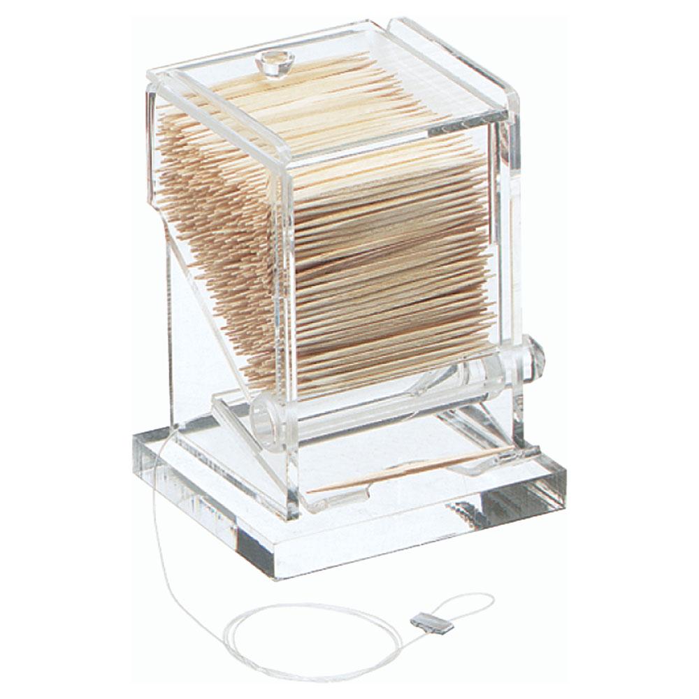 Carlisle TP10007 Toothpick Dispenser w/ 1-Box Capacity, Acrylic, Clear