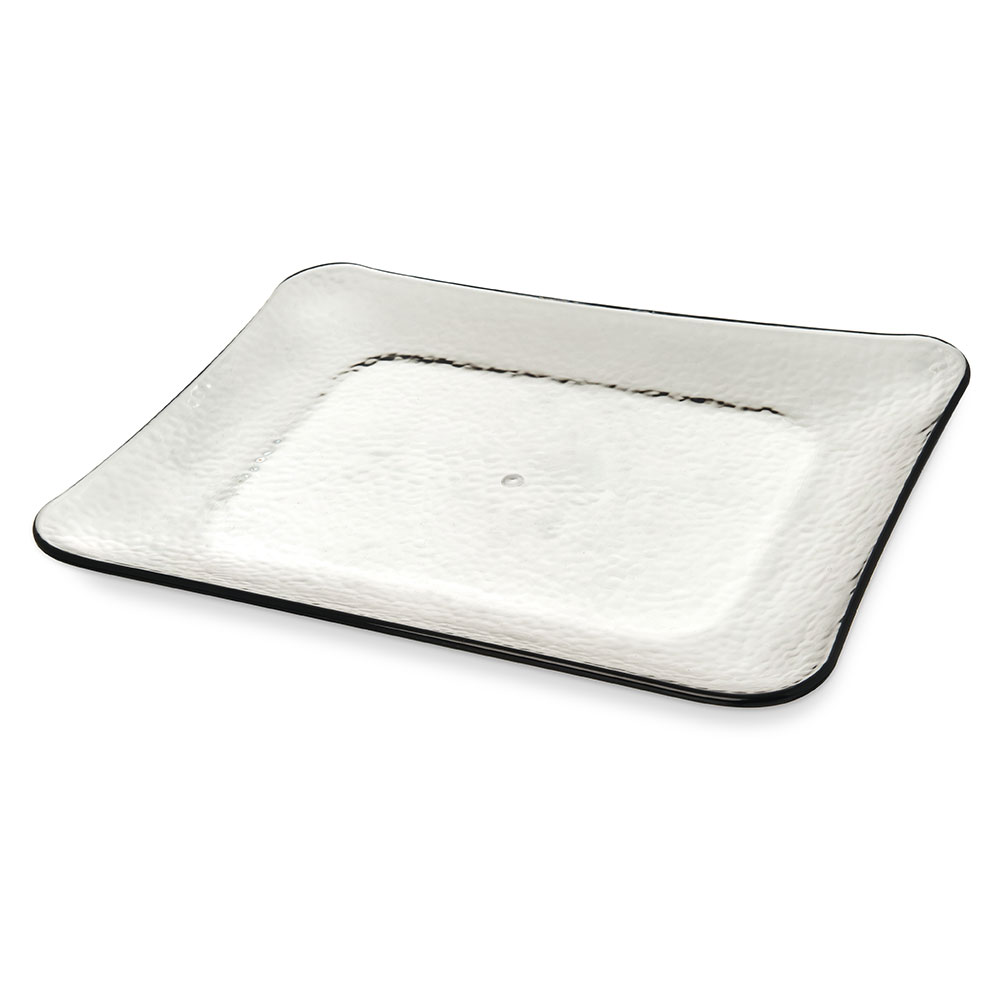 "Carlisle TRA0118 Terra Rectangle Platter - 19.75"" x 14.75"", Melamine, Smoke Gray"