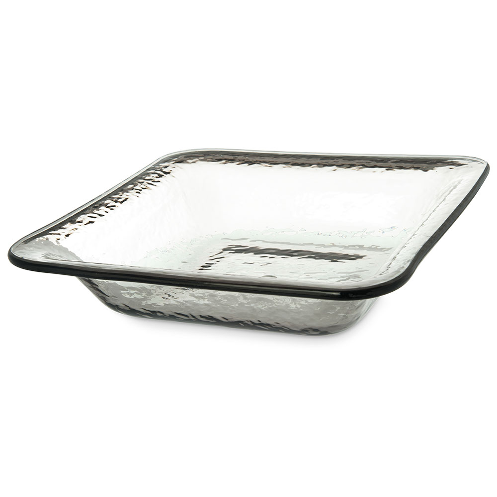 Carlisle TRA0218 3.4-qt Terra Square Serving Bowl - Melamine, Smoke Gray