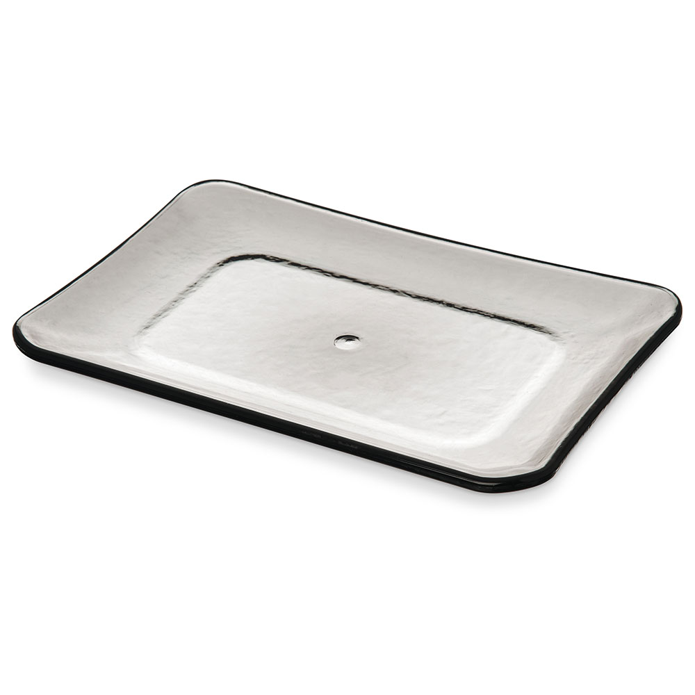 "Carlisle TRA0318 Terra Rectangle Platter - 12.62"" x 8.5"", Melamine, Smoke Gray"