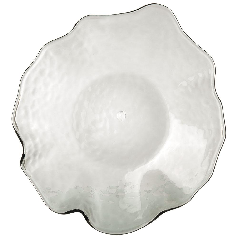 """Carlisle TRA0818 11"""" Round Dinner Plate - Plastic, Smoke"""