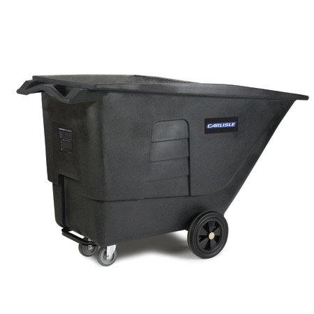 Carlisle TT010-03 Utility Tilt Truck - 1 cu yd, 825-lb Capacity, Polyethylene, Black