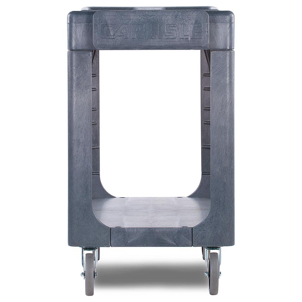 Carlisle UC194023 2-Level Polymer Utility Cart w/ 500-lb Capacity, Flat Ledges
