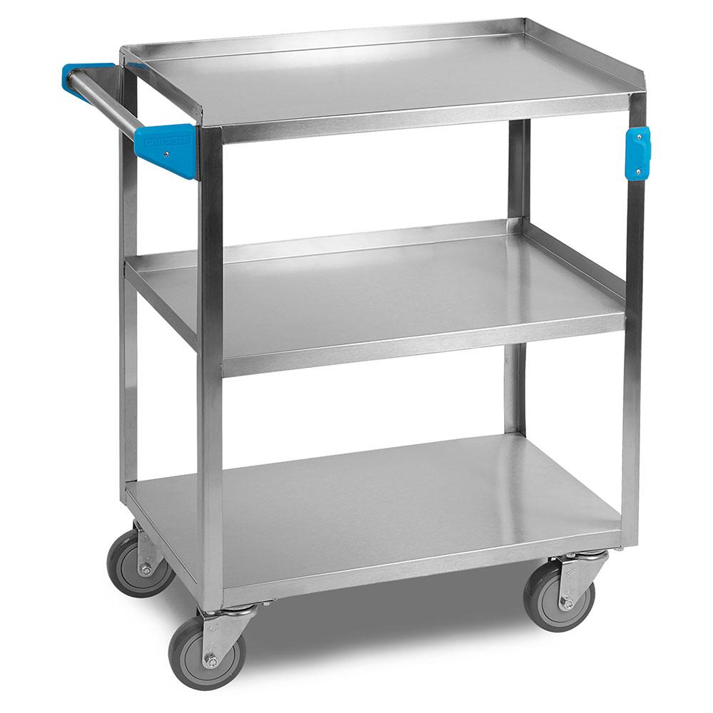 "Carlisle UC5031524 Utility Cart - 500-lb Capacity, 24x15-1/2x36"" (3)Shelves, Stainless"