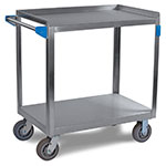 Carlisle UC7022133 2-Shelf Utility Cart, 21 x 35-in, 700-lb Capacity, Stainless