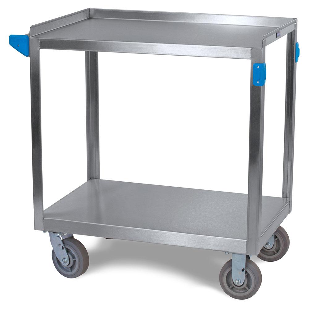 Carlisle UC7022133 2-Level Stainless Utility Cart w/ 700-lb Capacity, Flat Ledges
