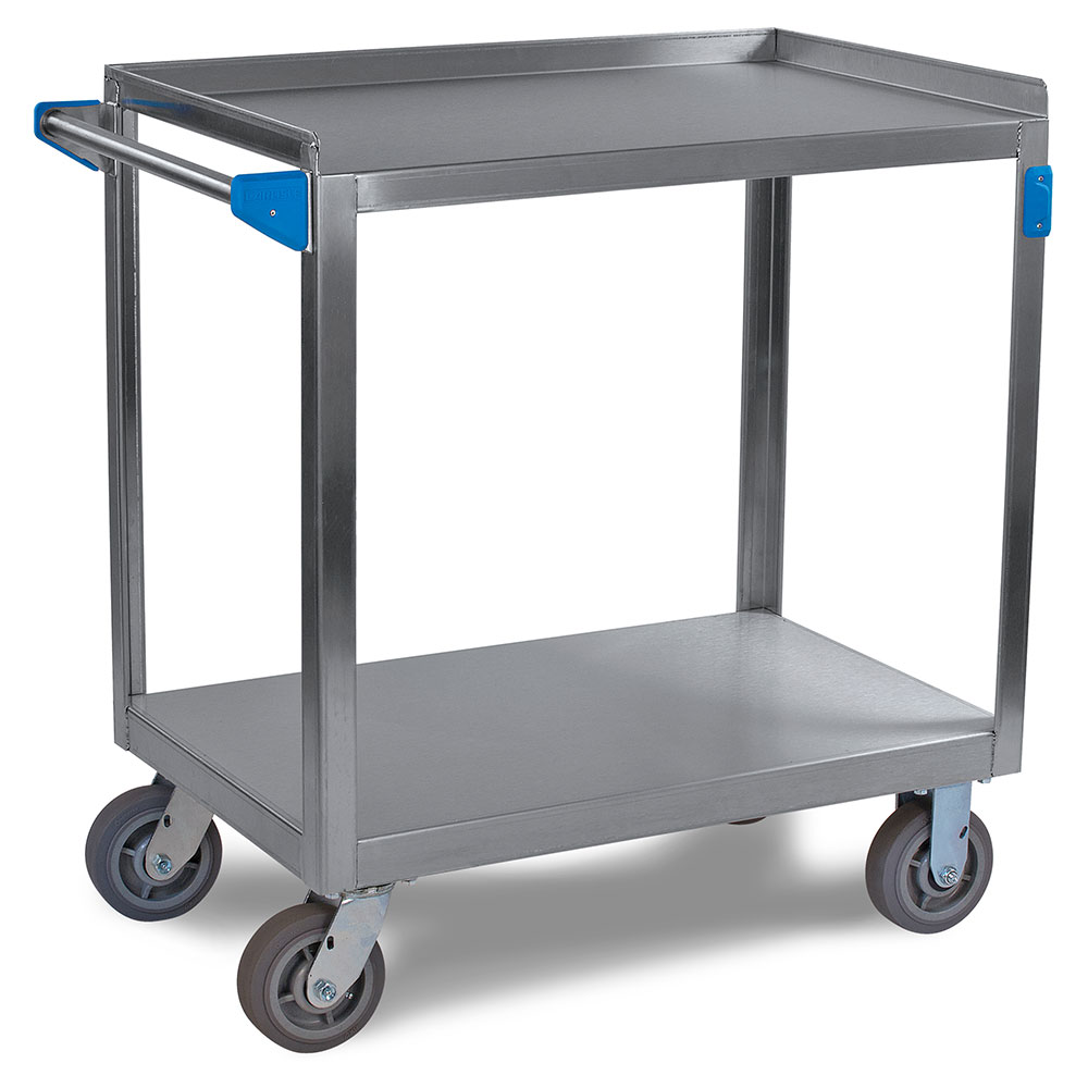 "Carlisle UC7022133 Utility Cart - 700-lb Capacity, 33x21x36"" (2)Shelves, Stainless"