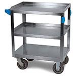 Carlisle UC7031827 3-Level Stainless Utility Cart w/ 700-lb Capacity, Flat Ledges