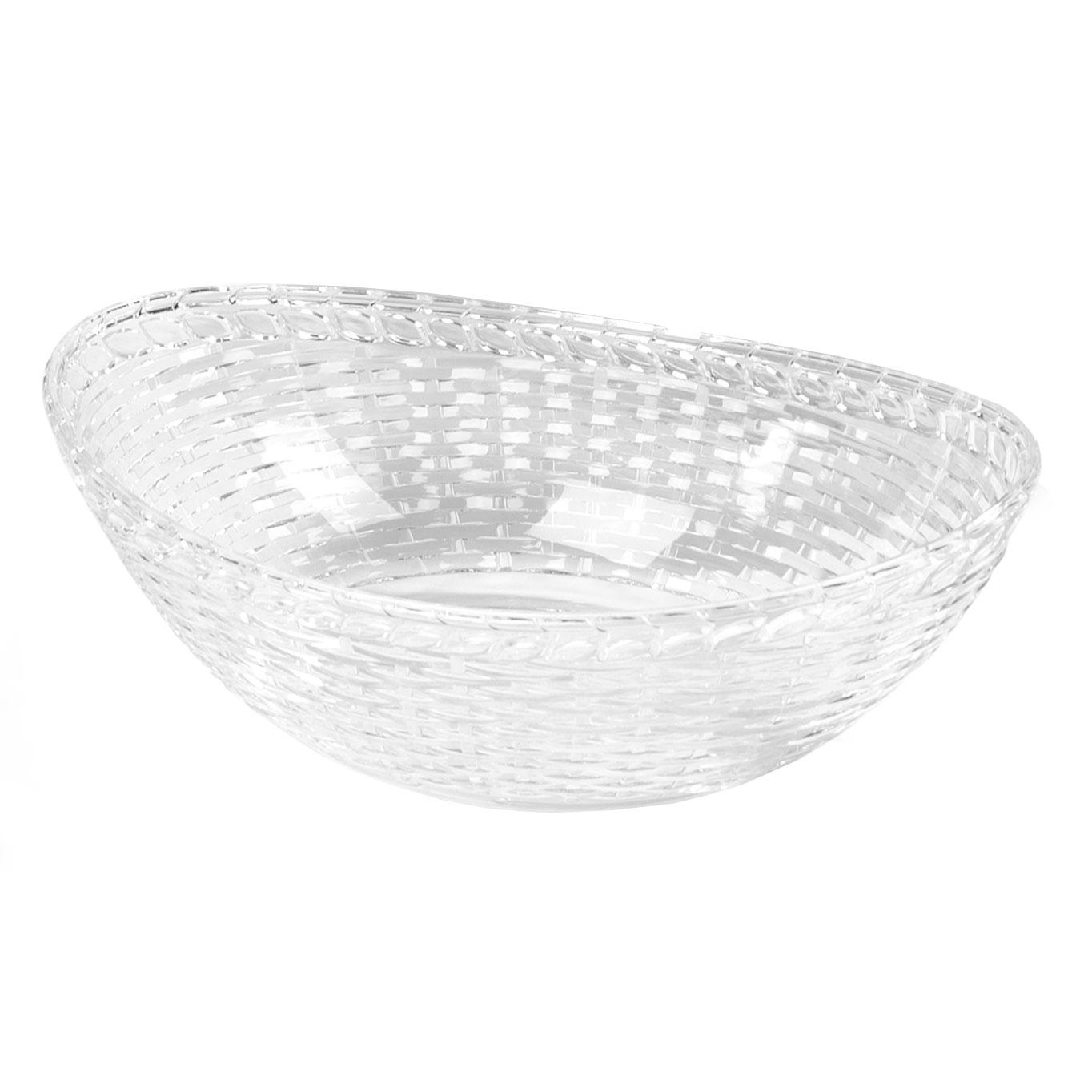 "Carlisle WB96507 Oval Basket - 9.43"" x 6.625"", Polycarbonate, Clear"