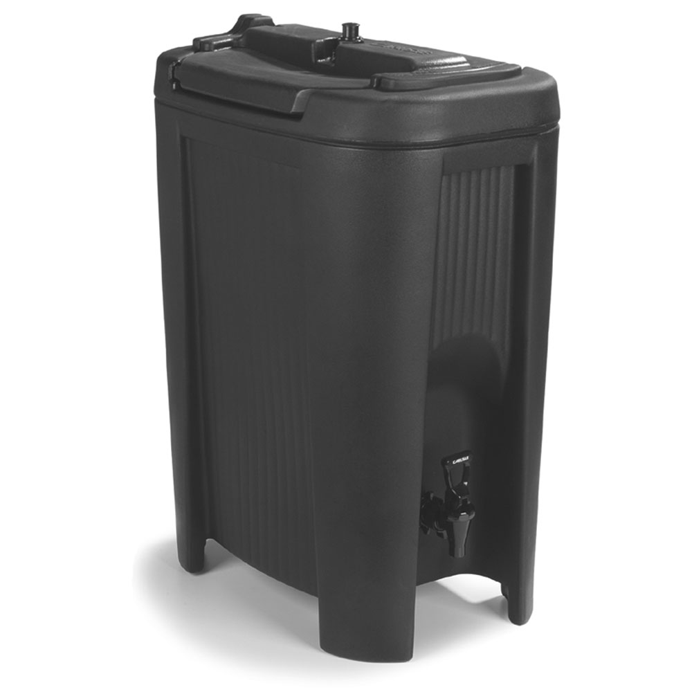 Carlisle XB503 5-gal Beverage Dispenser - Insulated, Polyethylene, Black