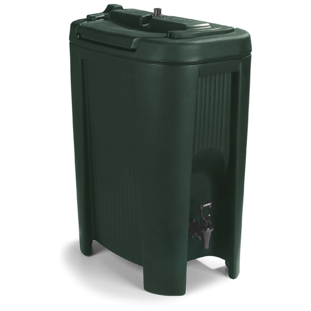 Carlisle XB508 5-gal Beverage Dispenser - Insulated, Polyethylene, Forest Green