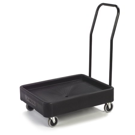 Carlisle XDL3000H03 Cateraide Pan Carrier Dolly - Push Handle, Polyethylene, Black