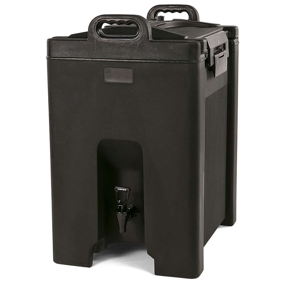 Carlisle XT1000003 10-gal Beverage Server - Insulated, Polyethylene, Black
