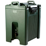 Carlisle XT1000008 10-gal Beverage Server - Insulated, Polyethylene, Forest Green
