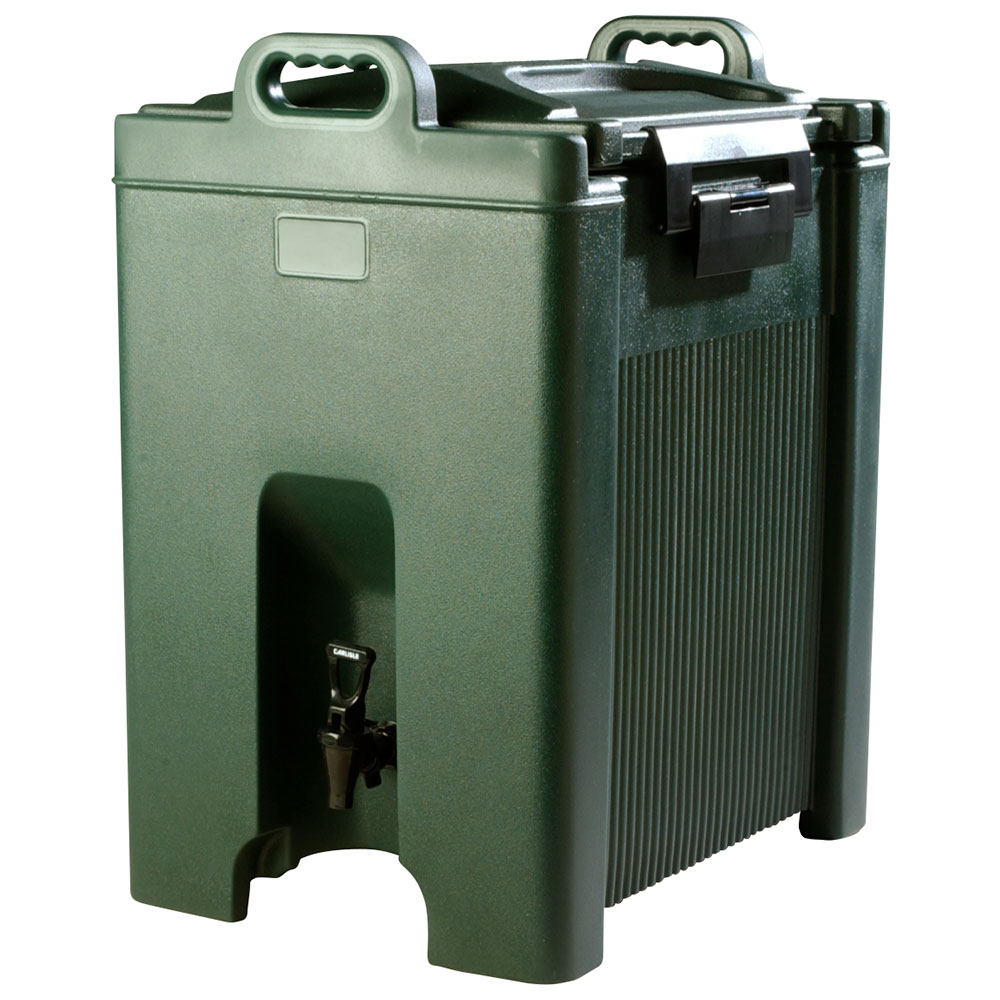 Carlisle XT1000008 10-gal Beverage Server - Insulated, Polyethylene, Forest Green