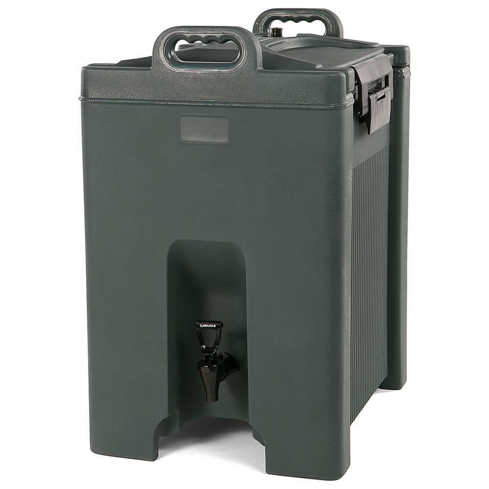Carlisle XT1000059 10-gal Beverage Server - Insulated, Polyethylene, Slate Blue