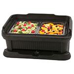 Carlisle XT140003 Top Load Pan Carrier w/ 12-qt Capacity, Polyethylene, Black