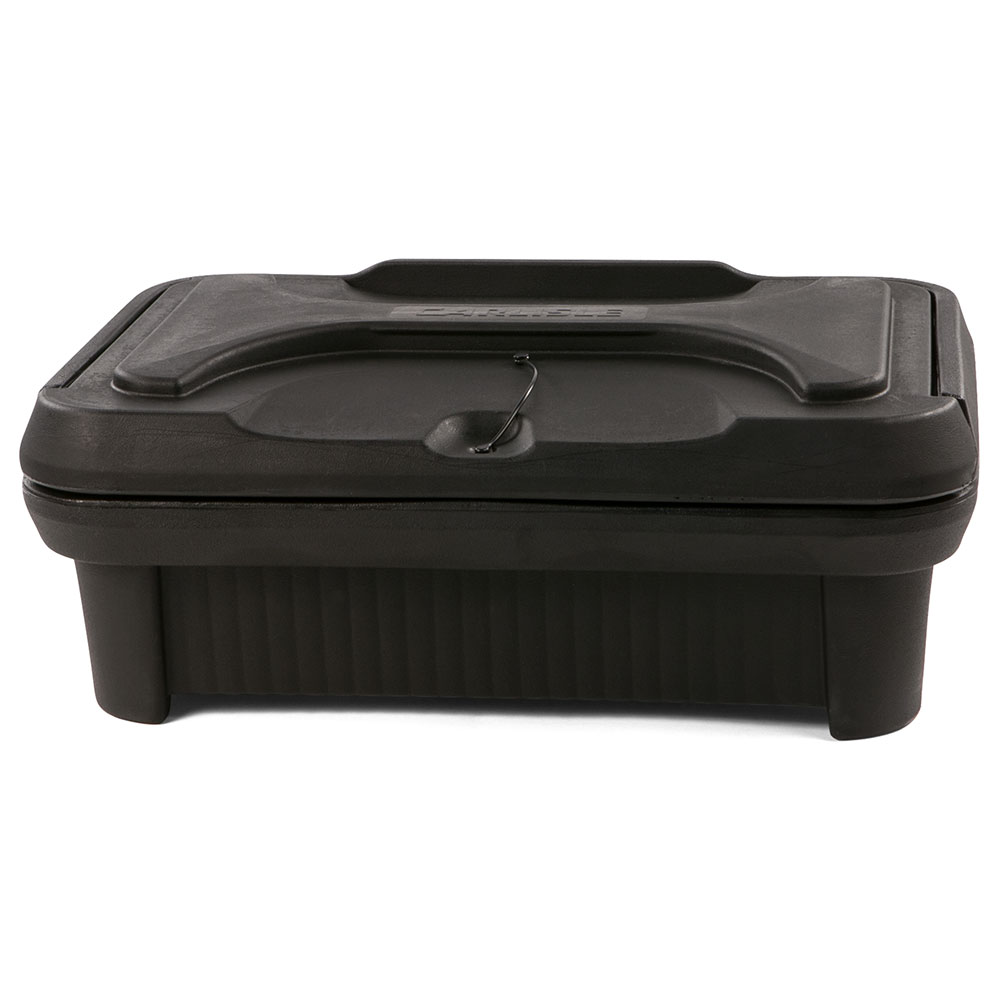 "Carlisle XT140003 Cateraide Pan Carrier - 4"" Top Loader, Insulated, Polyethylene, Black"