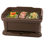 Carlisle XT160001 Top Load Pan Carrier w/ 18-qt Capacity, Polyethylene, Brown