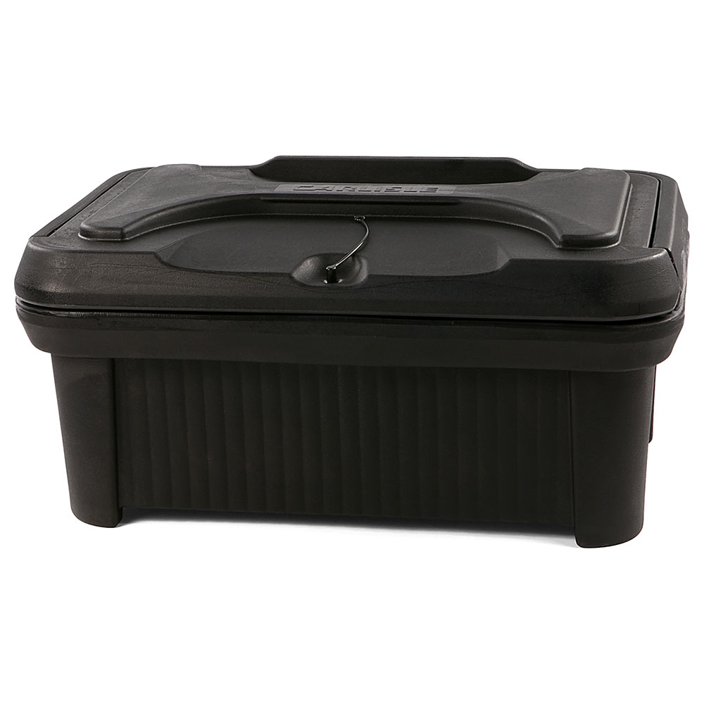 "Carlisle XT160003 Cateraide Pan Carrier - 6"" Top Loader, Insulated, Polyethylene, Black"