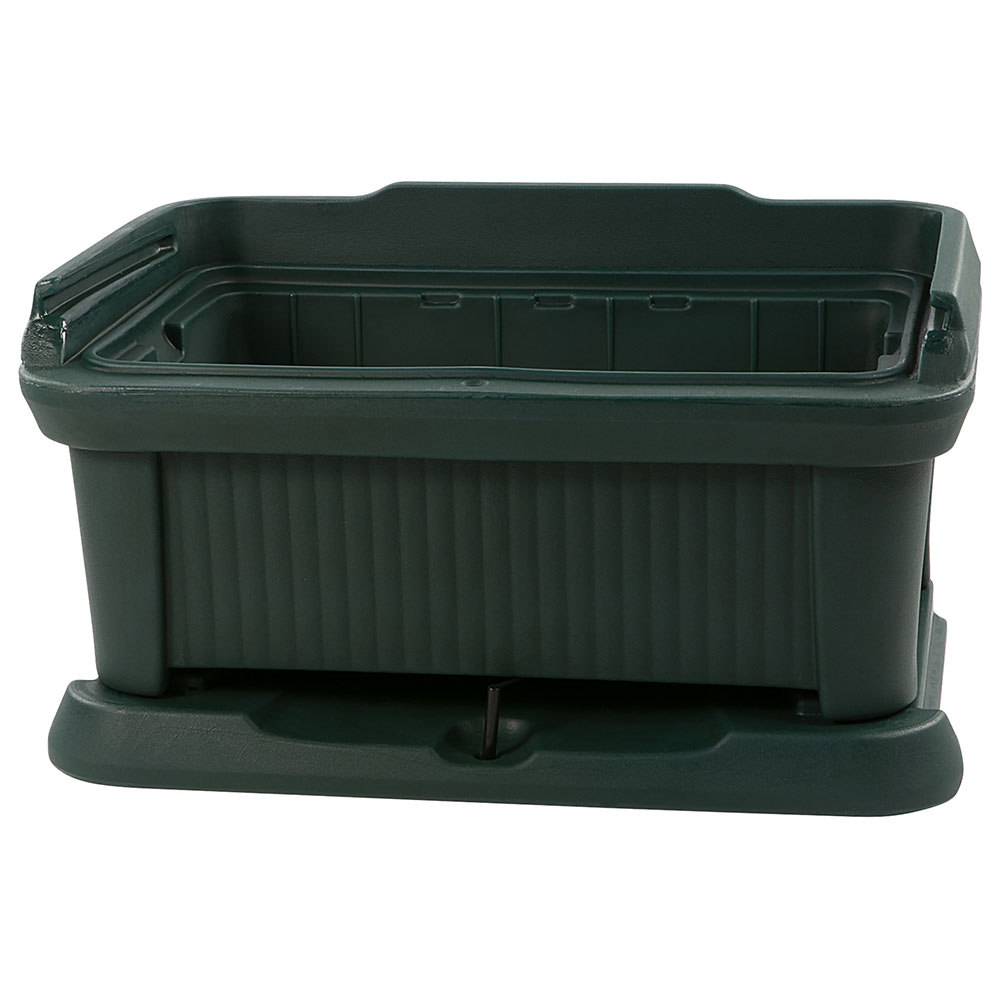 Carlisle XT160008 Top Load Pan Carrier w/ 18-qt Capacity, Polyethylene, Forest Green