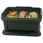 Carlisle XT160008 Top Load Pan Carrier w/ 18-qt Capacity, Polyethylene, Forest Green
