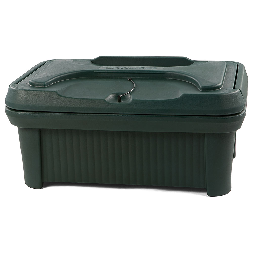 "Carlisle XT160008 Cateraide Pan Carrier - 6"" Top Loader, Insulated, Polyethylene, Forest Green"