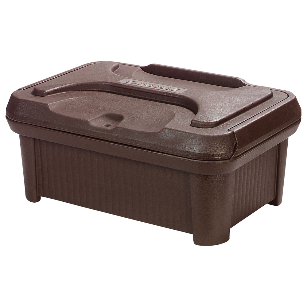 Carlisle XT180001 Top Load Pan Carrier w/ 24-qt Capacity, Polyethylene, Brown