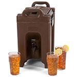 Carlisle XT250001 2.5-gal Beverage Server - Insulated, Polyethylene, Brown