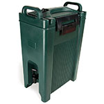 Carlisle XT500008 5-gal Beverage Server - Insulated, Polyethylene, Forest Green
