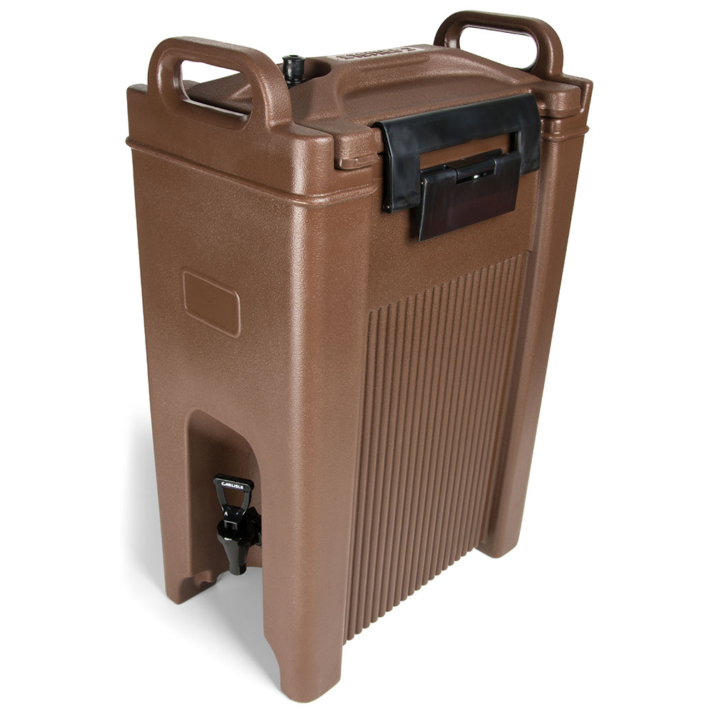 Carlisle XT500001 5-gal Beverage Server - Insulated, Polyethylene, Brown